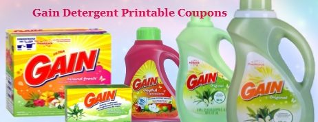 Gain Detergent Printable Coupons