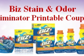 Biz Stain & Odor Eliminator printable coupons
