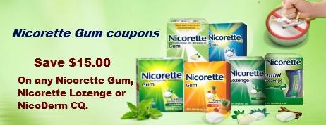 Nicorette Gum coupons
