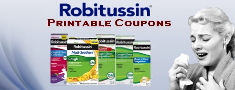 Robitussin printable coupons