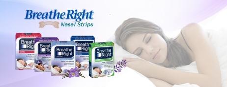 Breath Right nasal strips