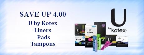 U by Kotex Coupons