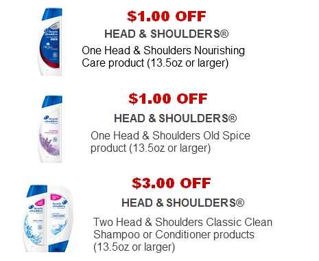 Head shoulder shampoo coupons