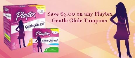 Playtex Gentle Glide Tampons Coupons