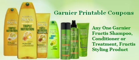 Garnier Printable Coupons