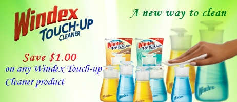 Windex Touch Up Cleaner coupons
