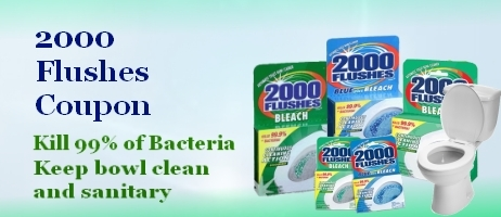 2000 flushes toilet bowl cleaner coupon