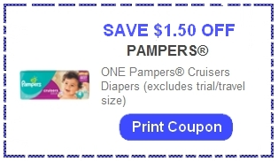 Pampers cruisers coupons august 2018