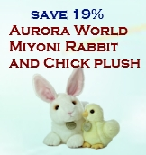 Aurora World Miyoni Rabbit and Chick plush