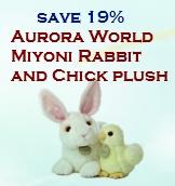 Aurora World Miyoni Rabbit and Chick plush