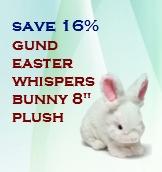 Gund Easter Whispers Bunny plush