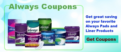 Always Pads Coupons