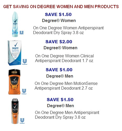 Degree coupons printable 2017