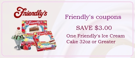 friendly's ice cream cake coupons