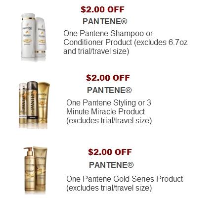 Pantene printable coupons