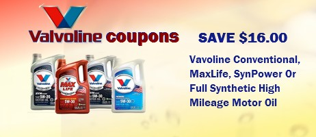Valvoline Coupons printable