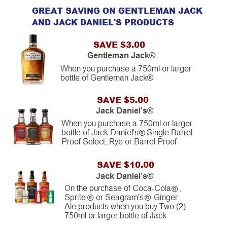 Gentleman Jack and Jack Daniels special deals
