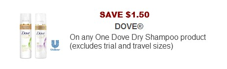 Dove Printable coupons