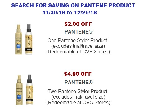Pantene Printable Coupons
