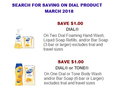 Dial coupons