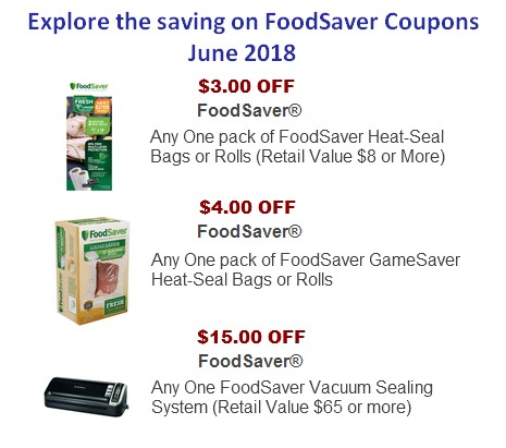 FoodSaver Coupons Printable