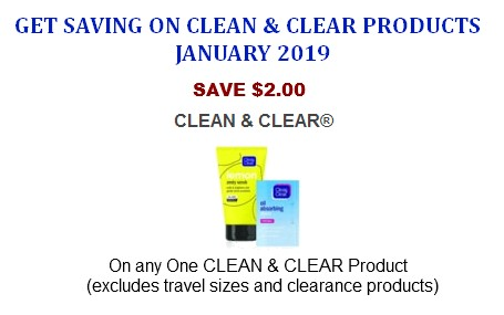 Clean & clear coupons