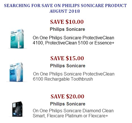 Philips Sonicare coupons printable