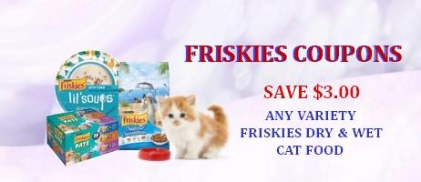 Friskies cat food Coupons