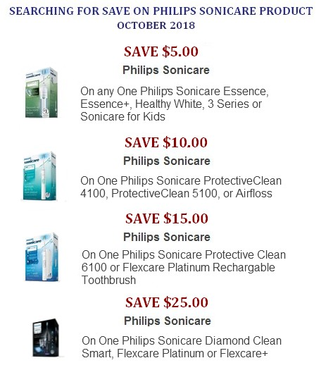 Philips Sonicare coupons