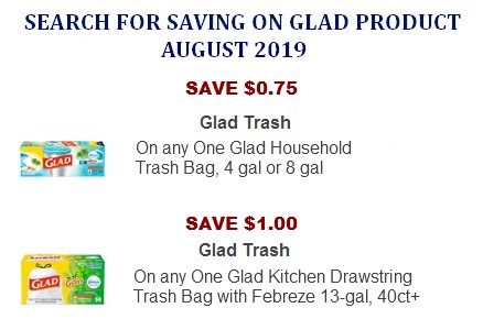 picture relating to Glad Trash Bags Printable Coupon named Happy Discount coupons Coupon Community