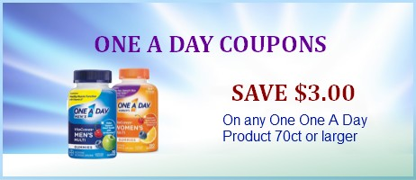 One a day coupons