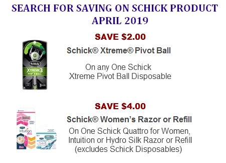 Schick coupons printable