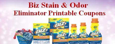 Biz Stain & Odor Eliminator printable coupons